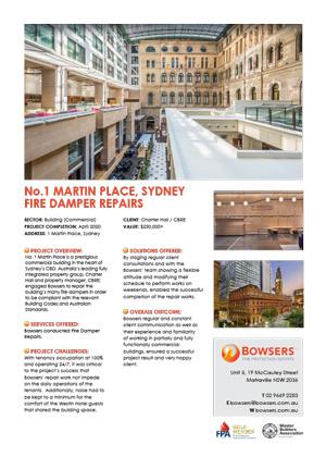 No.1 Martin Place Sydney Case Study