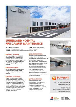 Sutherland Hospital Case Study